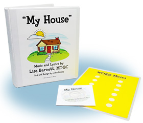 My House Music Book with lable sheet and Music CD.
